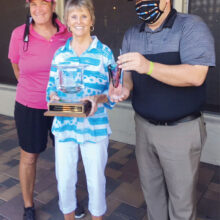 Sherry Fitzpatrick, 2020 Overall Net Winner, with Jane Chanik (left) and Troy Jewkes