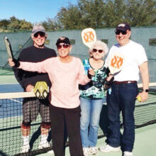 """Fun-loving """"Picklers"""" at the Ridgeview Courts: Jeffrey and Eileen Zelmanow and Ilene and Alvin Feingold"""