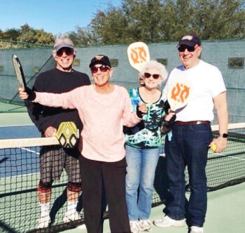 "Fun-loving ""Picklers"" at the Ridgeview Courts: Jeffrey and Eileen Zelmanow and Ilene and Alvin Feingold"