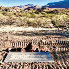 Gravestone of Grace Murray rests in the Catalinas (Photo by Elisabeth Wheeler)