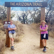 Seana Kobak and Beth Jones celebrate completing the 800-mile Arizona Trail (Photo by Elisabeth Wheeler)