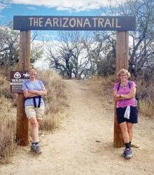 Seana Kobak and Beth Jones celebrate completing the 800-mile Arizona Trail (Photo by Elisabeth Wheeler)