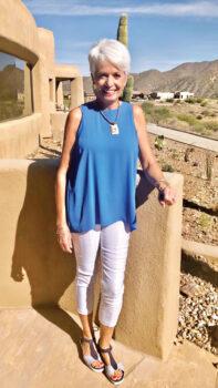 Edie Cussick finds great joy in serving as a Kids' Closet volunteer.