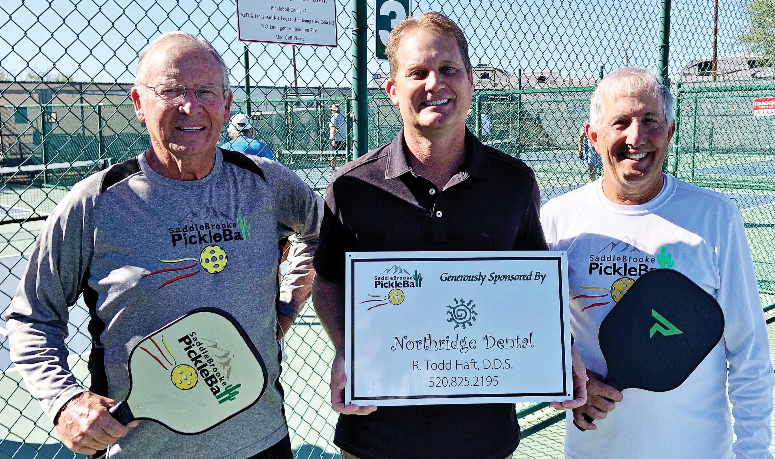 SPA member Bob Shelton, Dr. Todd Haft, and SPA president Peter Giljohann