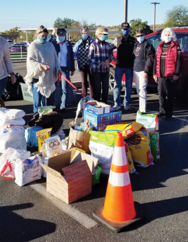 Part of the donations received New Year's Day.