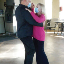 Pam and Daryl Floit enjoy a romantic dance at our outdoor dance venue. (Photo by Diana Wille)