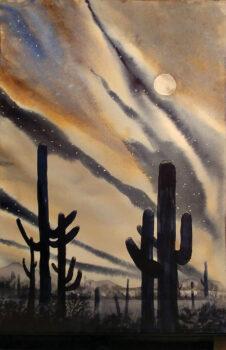 Moonlight on Saguaro
