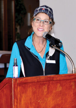 Club President Kat Danner at Founders Day