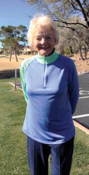 Nancy Wyllie, February Overall Low Net ACE winner