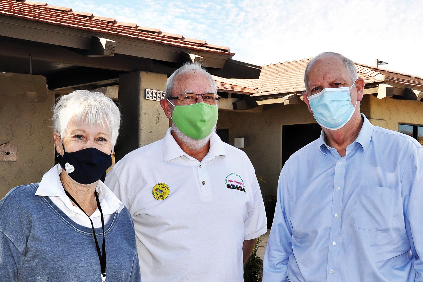 AZ Rep. Tom O'Halleran met with Senior Village Executive Director Linda Hampton and Board Chairman David Loendorf to learn about the logistics of the SaddleBrooke vaccination clinics.
