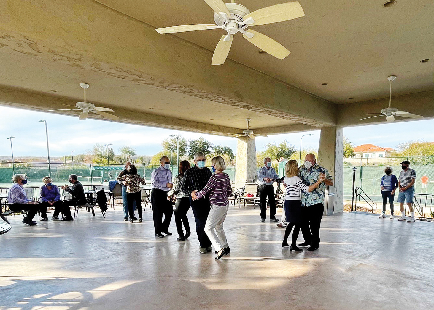 Social dancing is back! Both indoors, outdoors and more in the works!