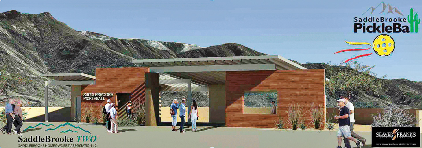 A rendering of the future Ridgeview Pickleball Complex in SaddleBrooke.
