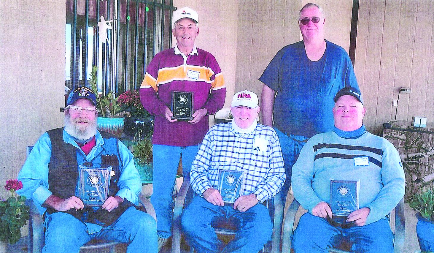 Sun Lakes team (left to right): Mac Mackerman, 69; Ted Tenbroeck, 73; Frank Nance, 68; Charles Chapman, 71; and Sean Jeffries, 65