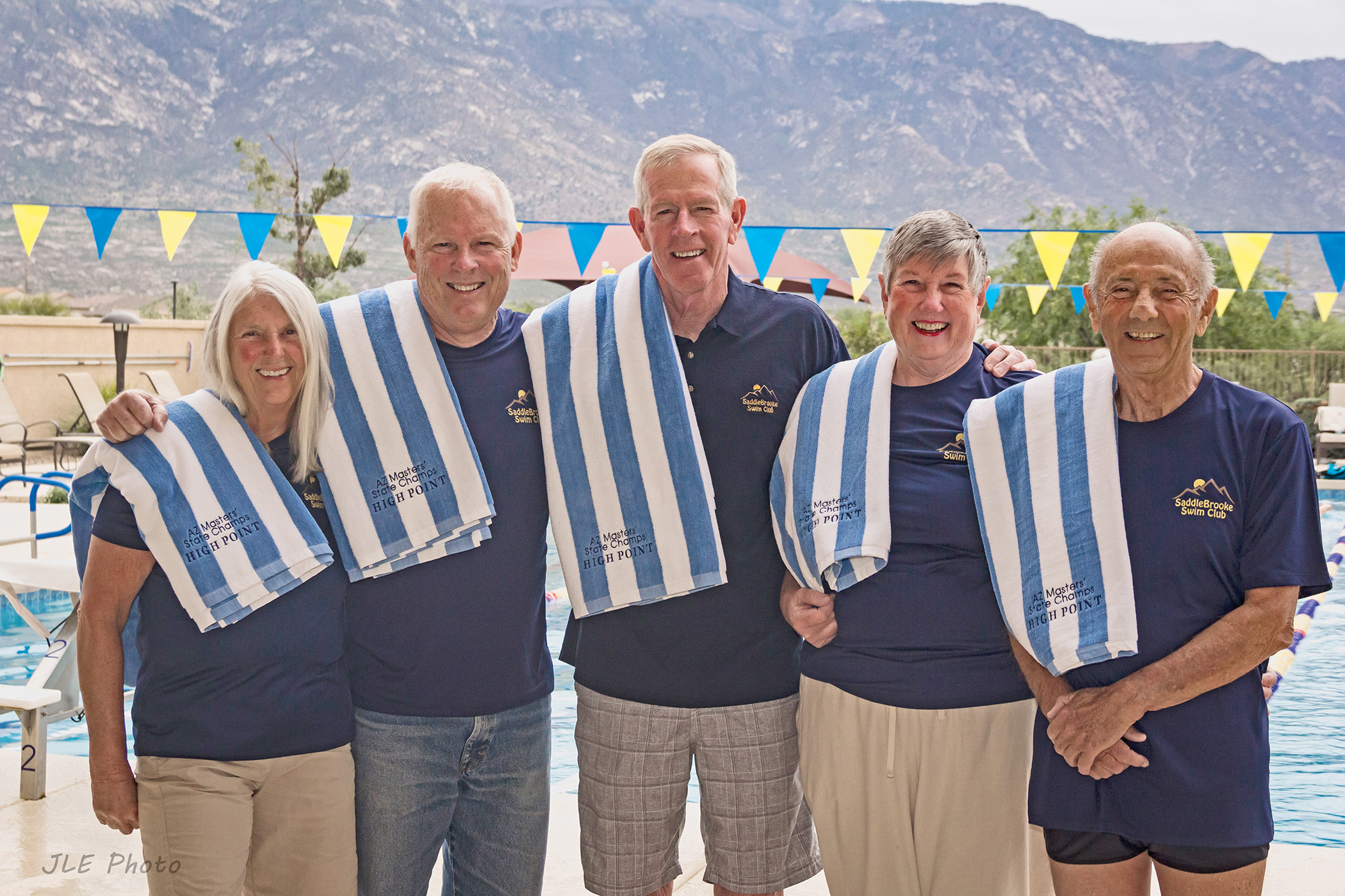 High point winners (Five of Nine) at an Arizona short course yards meet. (Photo by Jeff Eighmy)